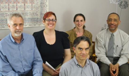 five participants in dharma contemplation group, spring 2013